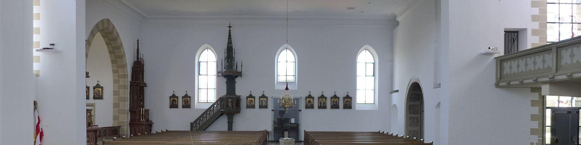 Kirche Oberwerrn - Blick vom Altarraum aus-sld