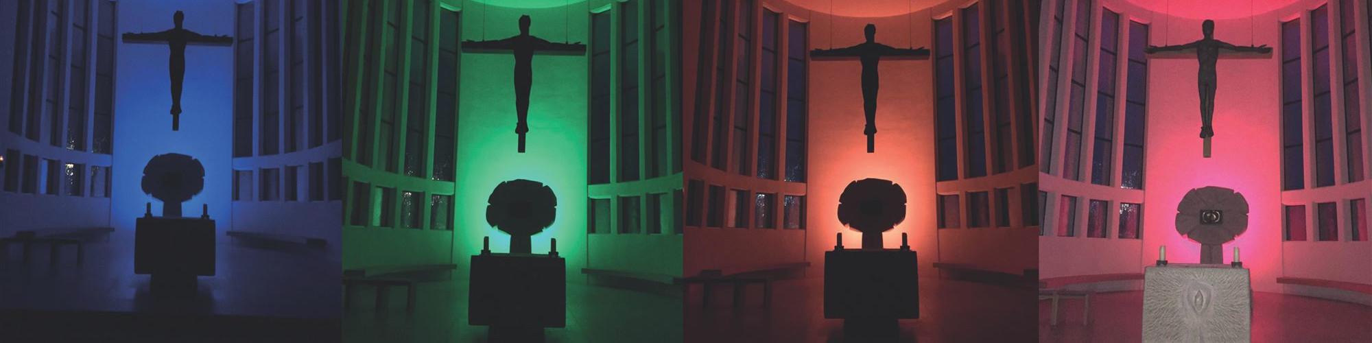 Plakat Illumination-Ausschnitt Kirchenraum