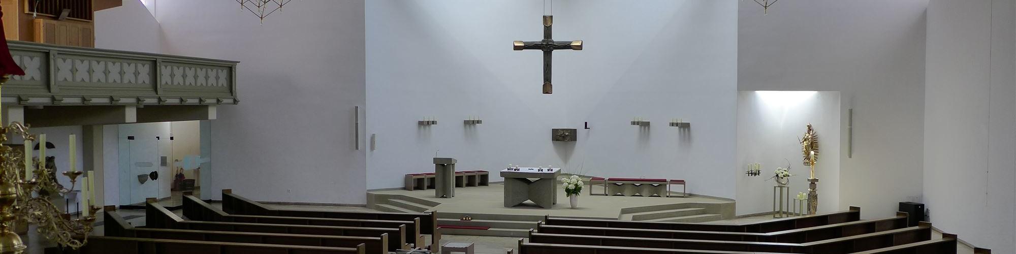 Kirche Oberwerrn - Blick ins Kirchenschiff-sld